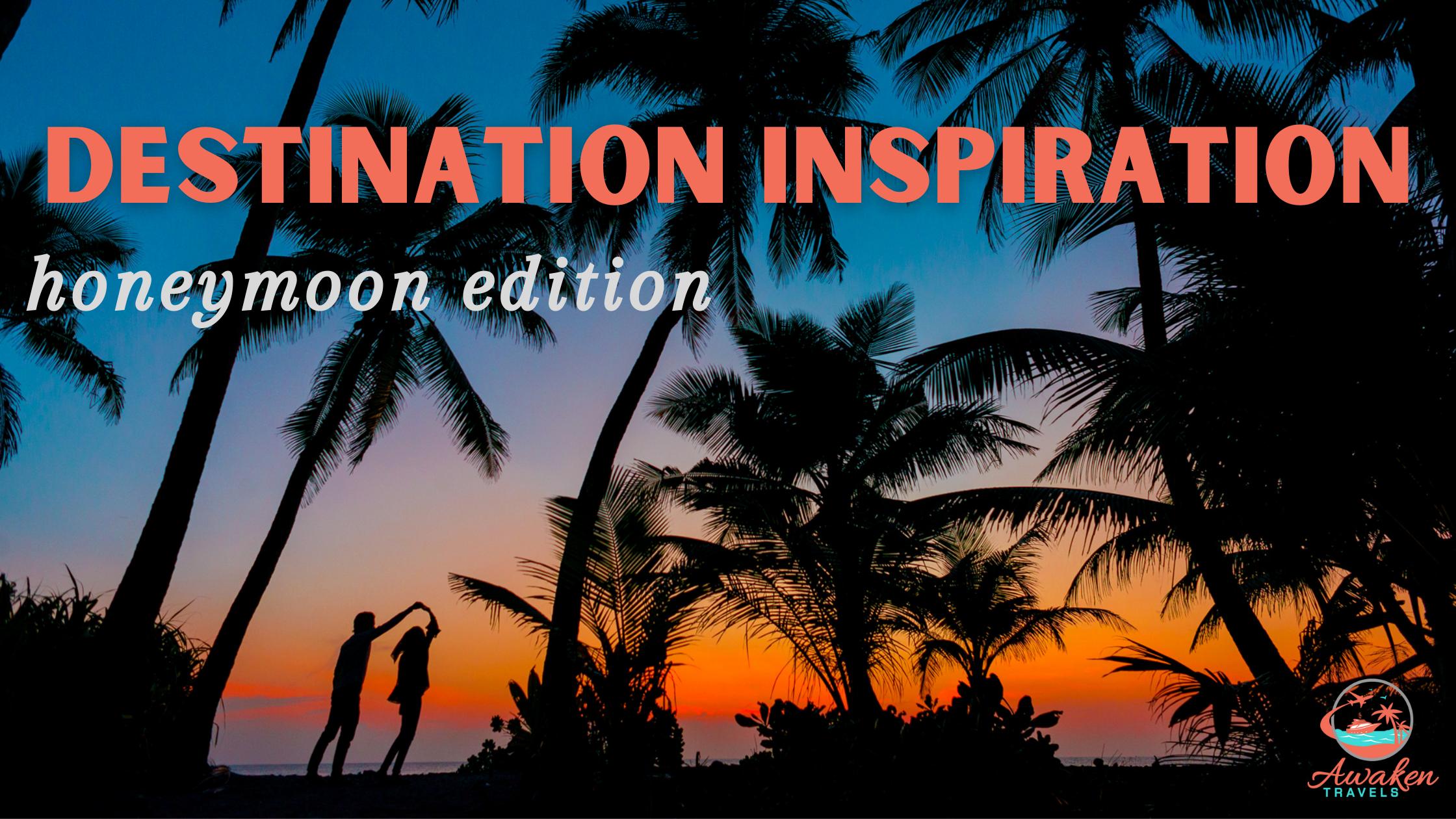 title image for unique honeymoon destinations