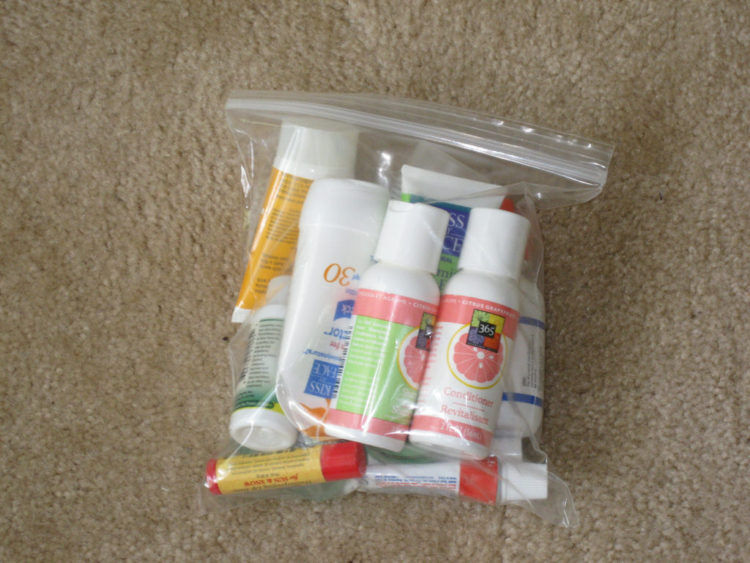 Packing For Your Destination Wedding. Double Bag Toiletry Items