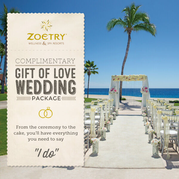 COMPLIMENTARY GIFT OF LOVE WEDDING PACKAGE