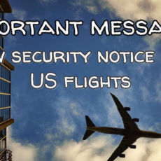 Important message | New security notice for US flights