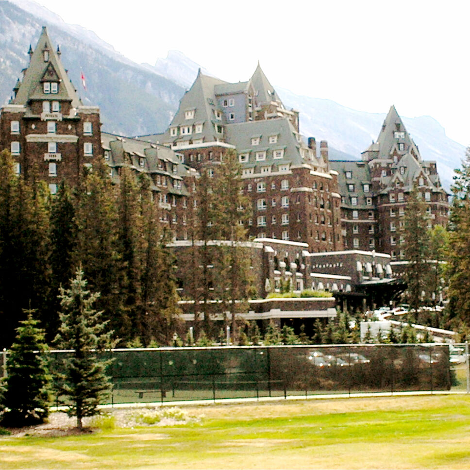 Banff Springs Hotel, Alberta, Canada. This majestic hotel, set against the dramatic and moody backdrop of the Canadian Rockies, claims a few friendly spirits and a few cranky ones. One kindly ghost is a former bellhop who reportedly offers to help guests with their luggage. And visitors have reported seeing a spectral bride dancing alone in one of the ballrooms.