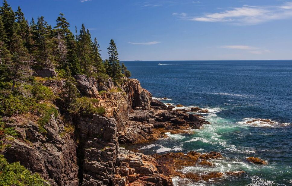 Acadia National Park where you can watch the sun's first rays hit the United States. Photo: Peter Rintels via flickr