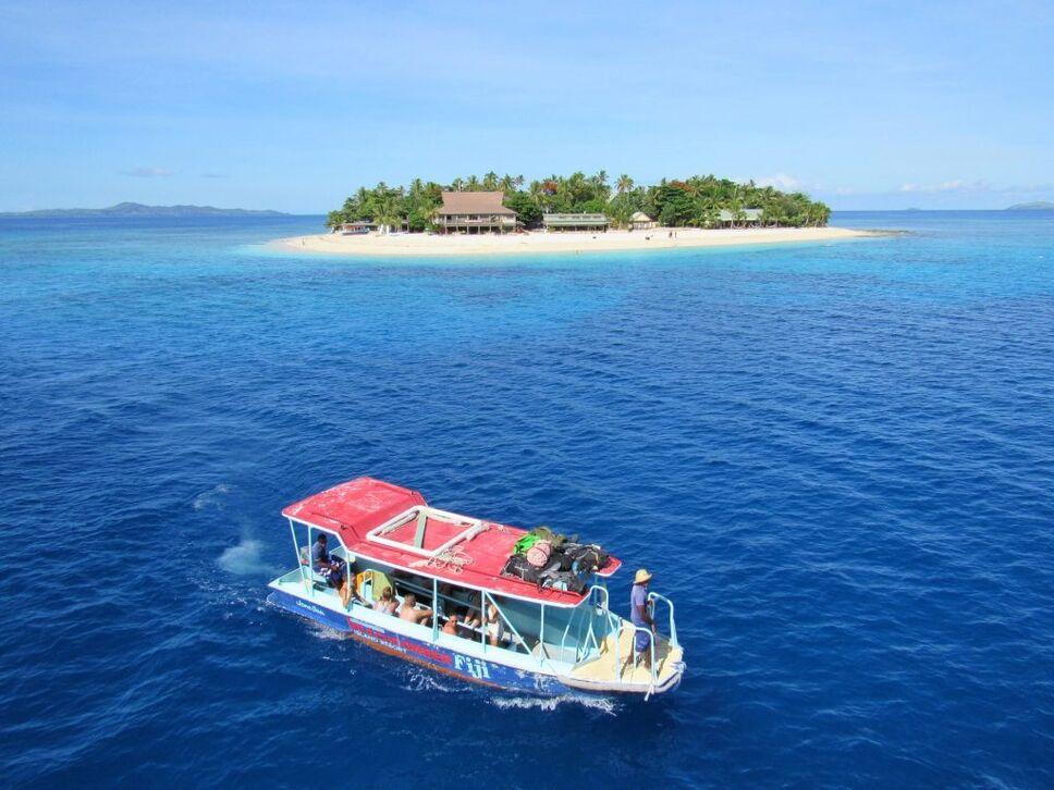 Fiji boat island