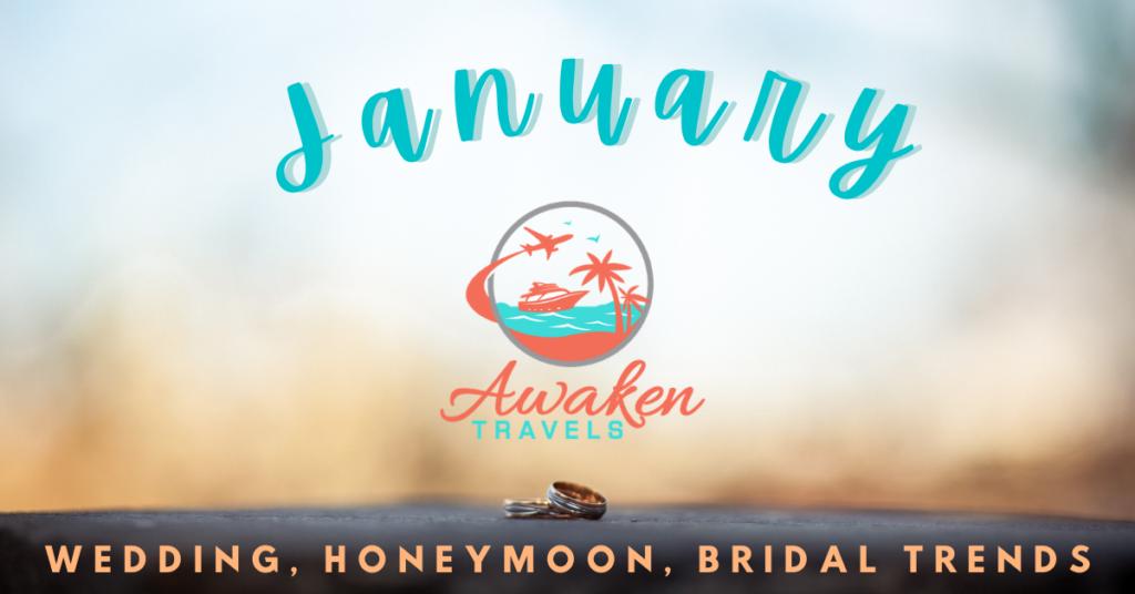 January Bridal, Wedding, and Honeymoon Headlines