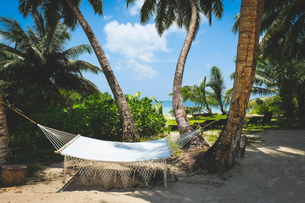 Napping hammock on the beach