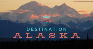 Alaska sunset over the mountains