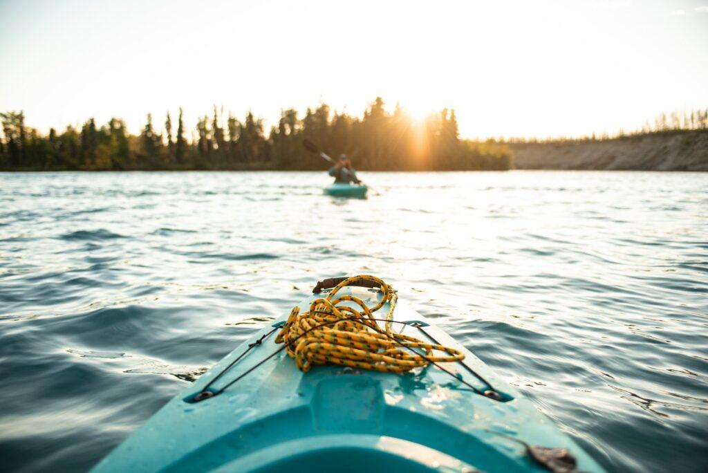 kayaking in the midnight sun in Alaska
