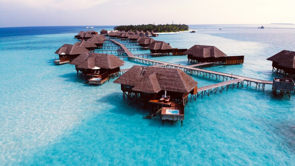 overwater bungalows with plunge pools