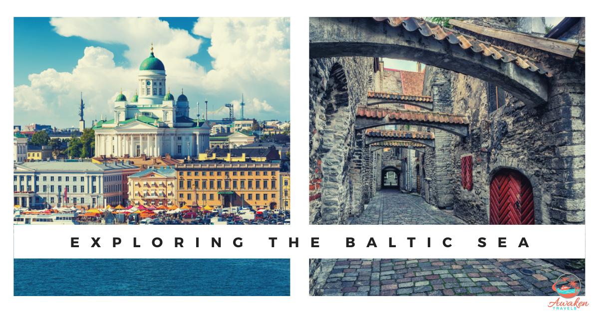 a photo of helsinki and tallinn along the baltic sea